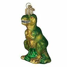Old World Christmas T-rex Glass Blown Ornament No Tax
