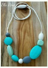Silicone Necklace Fashion Jewellery No BPA Women's Girls Durable Washable Funky