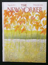 New Yorker COVER Aug 26 1972 Ilonka Karasz day lilies ADD'L NYs SHIP FREE
