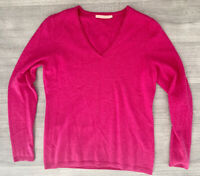 Cashmere John Lewis V Neck Jumper Long Sleeve Size 12 Long Sleeve