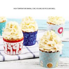 125Pcs Merry Christmas Cake Baking liners Paper Cup Cupcake Muffin Cases Hottest