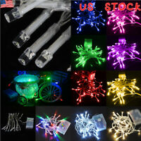 2PCS Battery Operated 10/20/30/40/50 LED String Fairy Lights Indoor/Outdoor Xmas