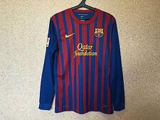 BARCELONA SPAIN 2011/2012 HOME FOOTBALL SHIRT JERSEY CAMISETA NIKE LONG SLEEVE