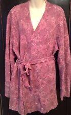 J JILL Long Sweater Pink Reversible Size XL