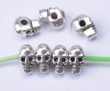 20pcs Tibetan silver horrific skull charm spacer beads NH730