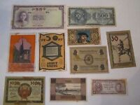 COLLECTION OF 10 OLD CURRENCY NOTES - WORLD WIDE - NICE -