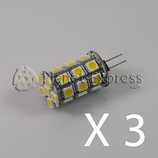 3 x Ampoule G4 27 Led SMD Blanc Froid 450 Lumens 12V DC caravane bateau voiture