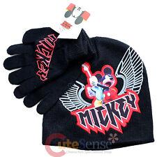 Disney Mickey Mouse Beanie Gloves Set - Rocker Mickey Black