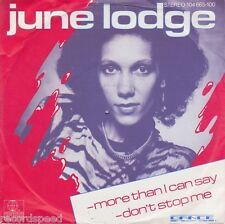 """★★ 7"""" - JUNE LODGE - More Than I Can Say"""