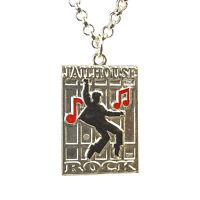 "Elvis Presley Memorabillia  ""Jailhouse Rock""  Silver Pendant"