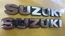 Suzuki GS750 GS750E GS400 GS425 GS550 nos tank badge set 1977-79     68111-45000