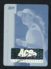 Shahar Peer signed autograph auto Cyan Plate 2013 Ace Authentic Grand Slam 1/1