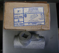 """O.Z. Gedney  EYA-200G  2"""" Explosion Proof Sealing Fitting Box of two(2)"""