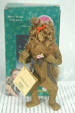 Cowardly Lion Figurine Fabric Mache Kurt Adler~New With Gift Box Retired Piece