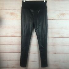 Assets by Spanx Leggings Very Black All Over Faux Leather Sz Medium NWOT NEW