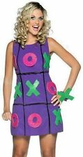 Women's Plus Size Tic Tac Toe Dress Halloween Costume Fits Sizes 14-20 NEW Funny