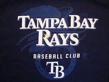 MLB Tampa Bay Rays Baseball Club Sportswear Fan Apparel Blue T Shirt Size 2XL