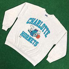 VTG 90S Charlotte Hornets Crewneck Sweatshirt NBA Basketball Bike USA Mens XXL