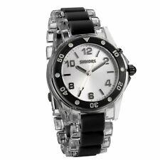 JewelryWe Fashion Women Watch, Easy Cool Charm Analog Quartz Watch with Silver D