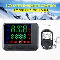 12V/24V LCD Monitor Schalter + Auto Fernbedienung Set für Luft Diesel Ofen Park