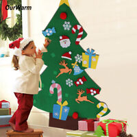 Kids DIY Felt Christmas Tree with Ornaments Xmas Christmas Gifts for Children
