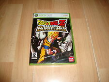 Pal version Microsoft Xbox 360 Dragon Ball Z Burst Limit