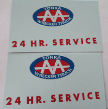 Replacement water slide decal set for Tonka AA 24 Hr.Service tow truck