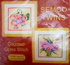 "Semco Twins Counted Cross Stitch Kit ""Fuschia & Orchid"" Tapestry New Craft"