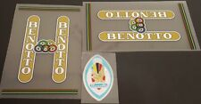 Benotto 1960s Bicycle Decal Set - Clear Background (sku Beno-S101)