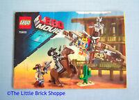 Lego Movie 70800 Getaway Glider - INSTRUCTION BOOK ONLY - No Lego bricks