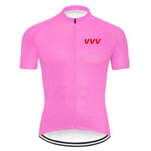 Pink Cycling Jacket Jersey Short Bicycle MTB Bike Motocross Shirt Bib Clothing