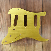 New Anodized Gold Color Aluminum Guitar Pickguard SSS for FD Strat Style Guitar