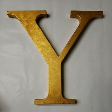 """Yellow Metal Wall Hanging Letter """"Y� 10.5"""" x 10.5�"""