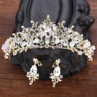 Crystal Tiara Bridal Headband Princess Hair Wedding Rhinestone Pearl Crown Bride