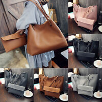 Women Shoulder Messenger Bag PU Leather Tote Purse Handbag Crossbody Satchel Kit