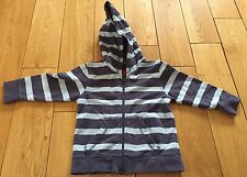 Boys Blue Striped Hoodie Size 12-18 Months