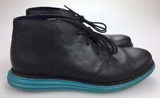 Cole Haan C11721 Lunargrand Lunar Black Blue Chukka Casual Boots Lace Men's 8 M