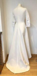 Vintage French 1960s 1970s Wedding Dress Handmade Retro Small