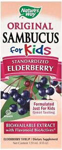 Nature's Way Sambucus for Kids Elderberry Syrup, 4 oz (Pack of 12)