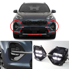 Fit For Kia Sportage KX5 2020 LED Front Fog Light DRL Daytime Running Lamp Kit
