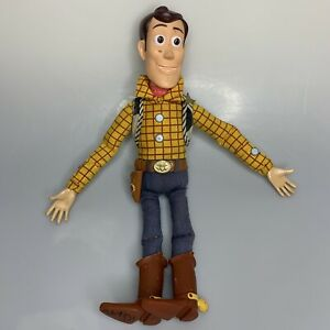 """Disney Store Woody Pull String Toy Story 15"""" Talking Doll Works!"""