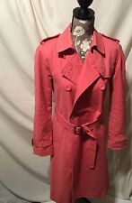 Club Monaco Women's Pink Trench Style Jacket Mint Cond Size S/P Small