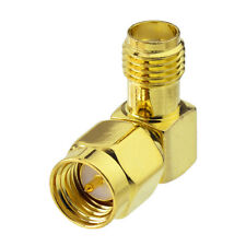 100pcs SMA Female to Male Right Angle Connector Adapter for WiFi Router Booster