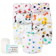 New ListingBaby Cloth Diapers One Size Adjustable Washable Reusable for Baby Girls and Boys