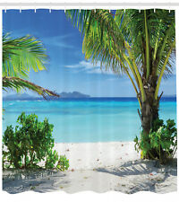 Tropical Plants Seaside Decor for Summer Houses Ocean Beach Shower Curtain