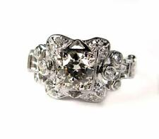 Certified Solitaire Engagement 1CT European cut VS1 Diamond Ring 14K White Gold