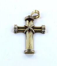 14KT SOLID YELLOW GOLD JESUS CHRIST CRUCIFIX CROSS CATHOLIC CHRISTIAN PENDANT