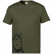 fishing carp on side t shirt