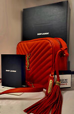 YSL Red Camera Bag NWT