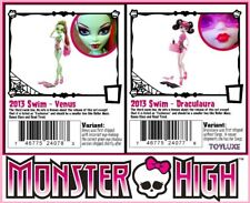 Monster High SWIM CLASS 4 Doll VARIANT SET 2 Draculauras, 2 Venus McFlytrap RARE